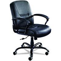 Safco Products 3501BL Serenity Big and Tall Leather Mid Back Chair, Black