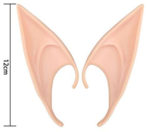 Cosplay Fairy Ears Soft Pointed Elf Ears Tips Halloween Cosplay Party Costume