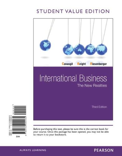 International Business: The New Realities, Student Value Edition (3rd Edition)