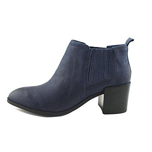Fergie Magiska Kvinnor Spetsig Tå Läder Brun Känga Marinblått Läder