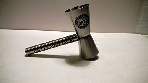 Jack Daniels Gentleman Jack Rare Tennessee Whiskey The Order of Gentlemen Stainless Steel Gavel Jigger Double Shot Glass