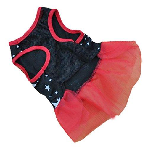 Image of BEAUTYVAN, Pet Dog Puppy Tutu Princess Dress Dot Lace Skirt Party Costume Apparel (XL, Black)