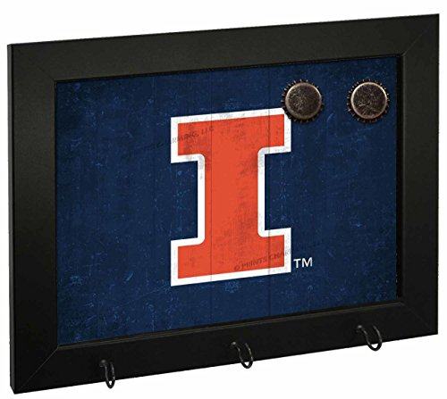 Letter Art Illinois Fighting Illini NCAA Magnetic Hook Board - Team - Illinois Fighting Dorm Illini