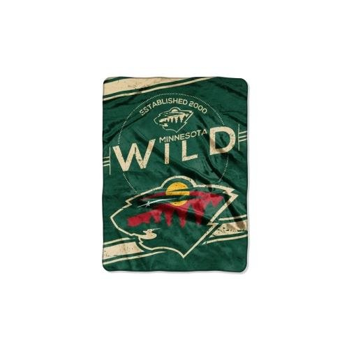 Officially Licensed Nhl Minnesota Wild Stamp Plush Raschel Throw Blanket  60  X 80