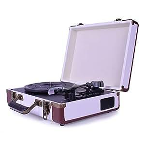 Amazon.com: LoopTone Record Player with Speakers 3 Speed ...