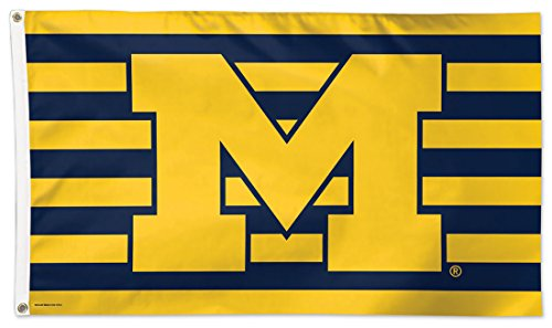 WinCraft University of Michigan Wolverines Deluxe Flag, Stri