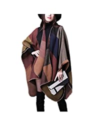 Women Poncho Fashion Wrap Scarf Lingso Shawl Office Blanket for Wife Girl Gift