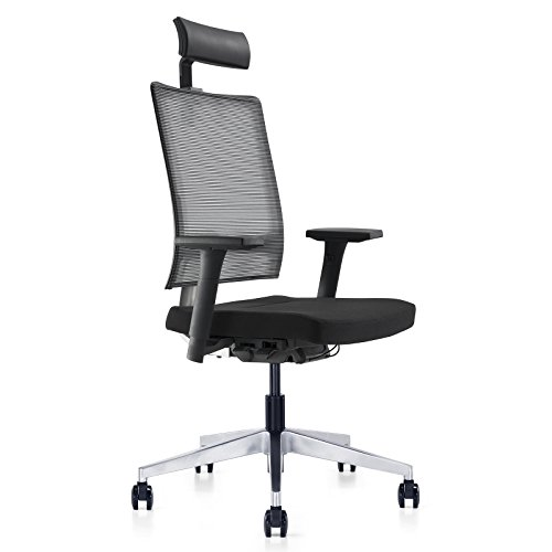 Meelano 2-HB-BLK High Back Office Chair, ()