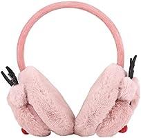 Kids Lovely Christmas Reinbeer Foldable Earmuffs Hairbands Boys Girls Cozy Furry Fur Winter Thermal Ear Warmers Earflap Adjustable Outdoor Soft Fleece Plush Warm Ear Covers Earmuff Ear Muffs Headband