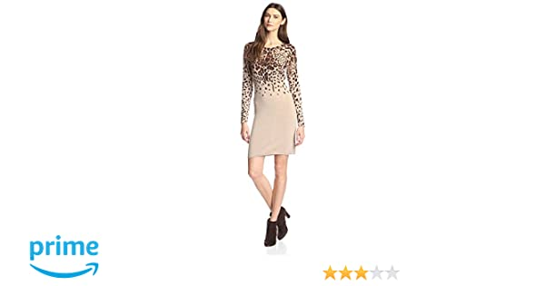 ac5e1c4097 Amazon.com  James   Erin Women s Cashmere Leopard Print Sweater Dress   Clothing