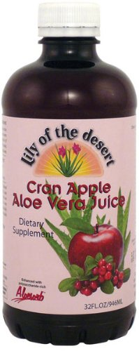 Aloe Juice-Cranberry Apple Lily Of The Desert 32 oz Liquid