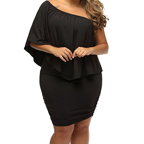 MuCoo Bodycon Plus Mesh Tulle Sleeve black Party Women's 4 Dress Sheer 3 Size 2 Sexy rZrqxAv