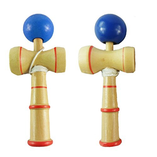Xhanry Kendama Natural Tama Pro Toy Catch Game with Extra String and Carrying Holster by Xhanry