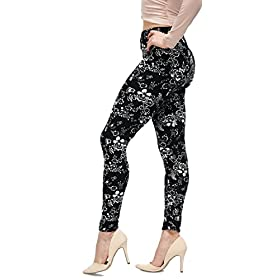 - 41vyoqmpw2L - LMB | Lush Moda | Women's Extra Soft Leggings | Variety of Prints | One Size