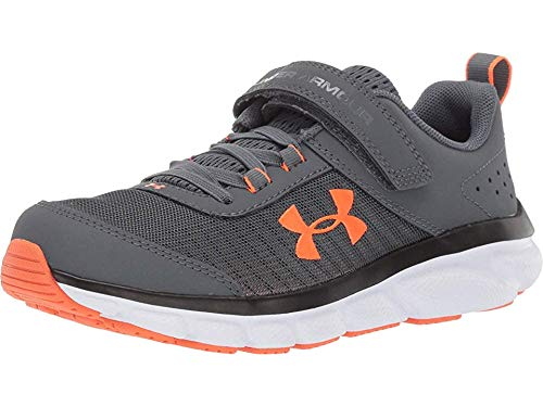 Under Armour Kids' Pre School Assert 8 Alternate Closure Sneaker, Pitch Gray (101)/White, 3