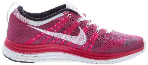 Nike Womens Flyknit One, Fireberry / Bianco-grigio Scuro-rosso Platino Rosso