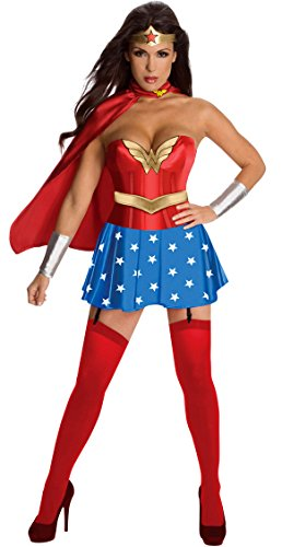 Q-Lingerie, Women's Wonder Women Superhero Costume Gold Belt Corset Star CS75