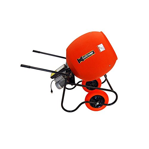 Wheelbarrow Mixer, 6 cu ft, 115V, 3/4HP