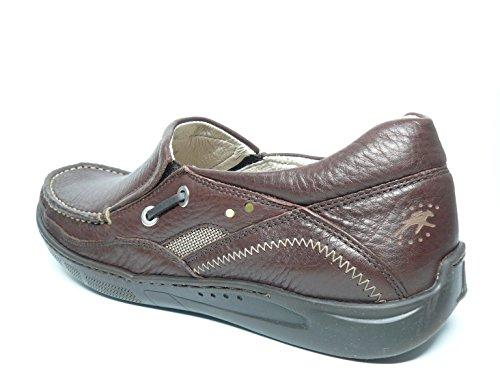 Zapato casual hombre FLUCHOS tipo nauticoen piel color marron brandy - 7553 - 49 Marron