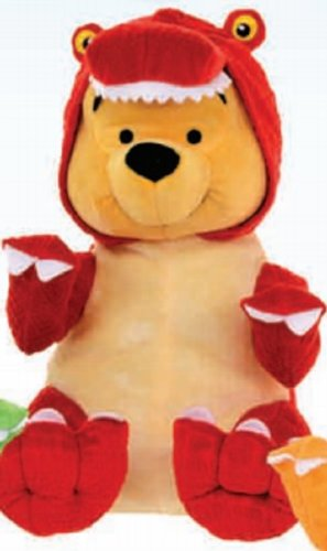 Disney Winnie The Pooh Dinosaur Suit Plush Soft Toy 25Cm
