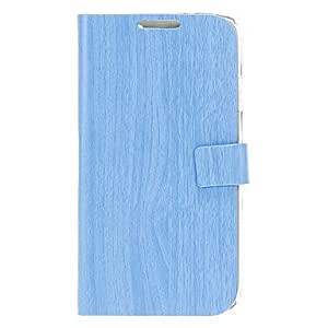SOL Wood Grain Pattern PU Leather Pouches with Hard Back Cover for Samsung Galaxy S4 I9500 , Beige