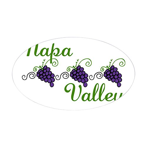 CafePress Napa Valley Sticker (Oval) Oval Bumper Sticker, Euro Oval Car Decal