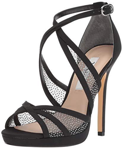 NINA Women's FENNA Heeled Sandal, Black, 6.5 M US (Shoes Com Heel Sexy High)