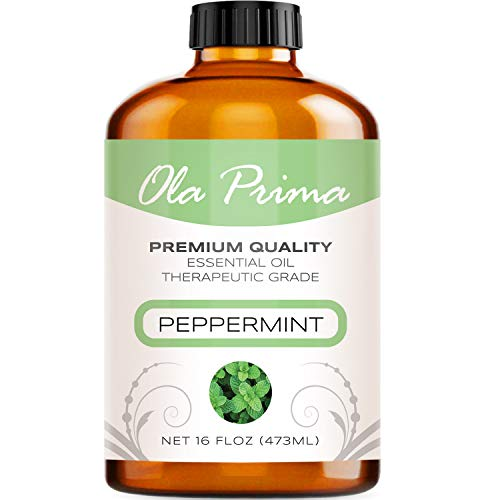 (16oz - Premium Quality Peppermint Essential Oil (16 Ounce with Dropper) Therapeutic Grade Peppermint Oil)