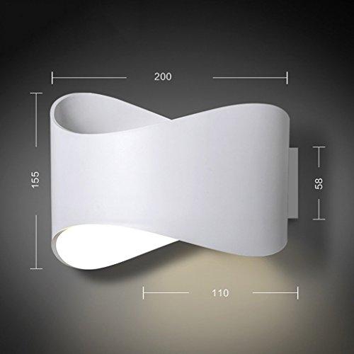 GUOQ Moderne Minimaliste Design Fer Luminaire Applique Murale Créatif  Couloir Lampe Murale Pour Pour Décoration De