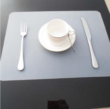 Clest FH PCS Transparent Silicone Placemats Dining Table Mat - Clear placemats for table