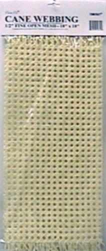 Commonwealth Basket Cane Webbing 1/2-Inch Fine Open Mesh 18-Inch by 18-Inch, Natural - Mesh Cane Webbing