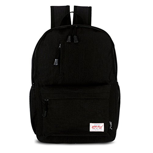Datomarry Classic Black Kids Outdoor Travel Laptop Backpack School Bag