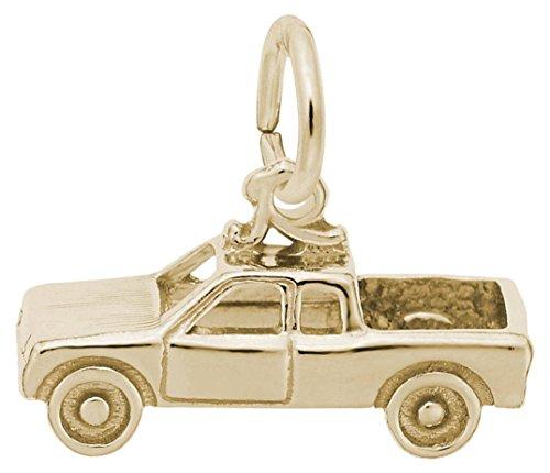 Rembrandt Pickup Truck Charm - Metal - 14K Yellow - Truck Charm Gold 14k