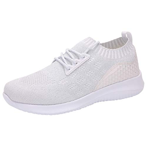 HHei_K New Women's Shoes Mesh Shoes Leisure Sports Shoes are Breathable in Summer Running Sneakers Walking Shoe White]()