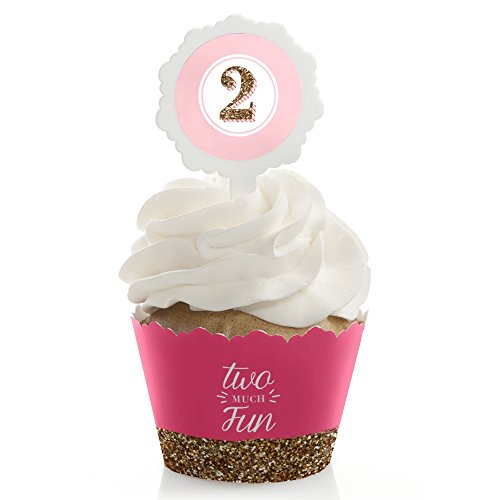 Two Much Fun Birthday Cupcake