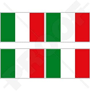 Merssavo 2pcs Car Italy Flag Logo Italian Emblem Stickers Side Fender Metal Decal Badge