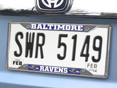 FANMATS 15531 License Plate Frame NFL Baltimore Ravens