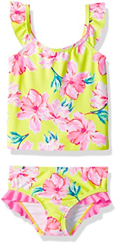 Osh Kosh Girls' Toddler 2-Piece Swim Suit (Multiple Varieties), Yellow Floral, (2 Piece Toddler Swimsuit)