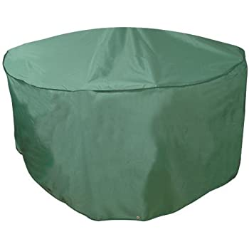 "Bosmere C521 Outdoor Round Table & Chairs Cover 84"" Diameter x 33"" High, Green"