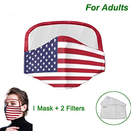 Shohotop Cycling Face Mackswith Eyes Shield +2 Filters, Haze Dust Face Health Protection