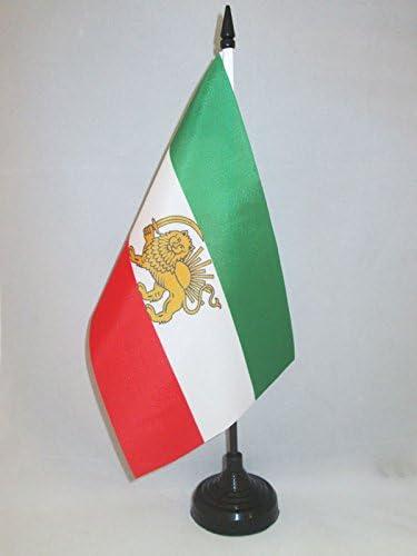 AZ FLAG Bandera de Mesa IRÁN Antigua Persia 21x14cm - BANDERINA de DESPACHO IRANÍ Antigua 14 x 21 cm: Amazon.es: Hogar