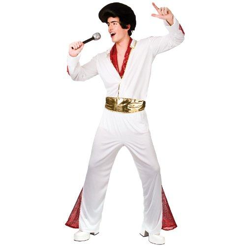 King of Rock n' Roll Fancy Dress Stag 60's (Rocknroll King Costumes)