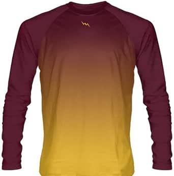 Amazon.com: Granate Oro Se descolora Ombre camisas de manga ...