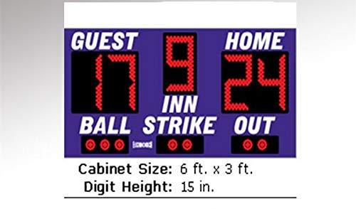 GOWE Red high resolution indoor basketball scoreboard