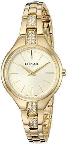 z Stainless Steel Casual Watch, Color:Gold-Toned (Model: PM2242) (Seiko Ladies Watch Champagne Dial)