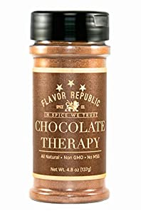 Flavor Republic Chocolate Therapy A Rich and Full-Bodied Cocoa Seasoning Blend, Low Sodium/Low-Gylcemic