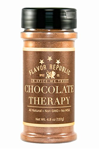 Flavor Seasoning (Flavor Republic Chocolate Therapy A Rich and Full-Bodied Cocoa Seasoning Blend, Low Sodium/Low-Gylcemic)