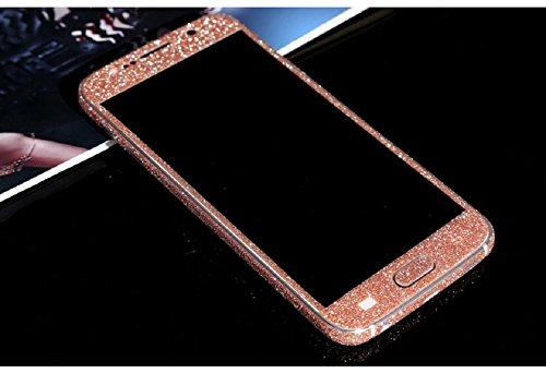 Ularmo Galaxy S6 Screen Sticker Luxury Bling Glitter Hard Back Film Case Cover for Samsung Galaxy S6 G9200 (pink)