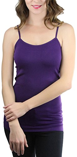 (ToBeInStyle Women's Fitted Spaghetti Strap Camisole - Purple - One Size)
