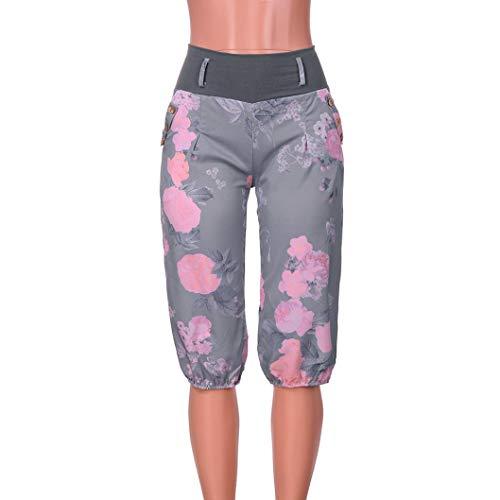 Pantaloni Scuro posizionati donna da pantalone Pantaloni Verde motivo floreale non floreale donna sportivi eleganti Elecenty con awdqZpp